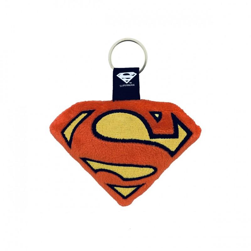 LLAVERO PELUCHE: LOGO SUPERMAN